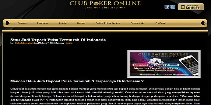 Poker Pulsa