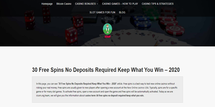 30 free spins no deposit required keep what you win